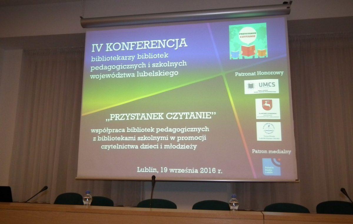 22 września 2016 – Konferencja bibliotekarzy w Lublinie