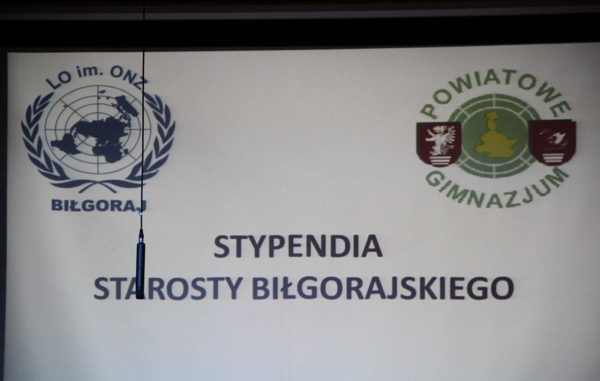 10 listopada 2016 – Stypendia Starosty Biłgorajskiego