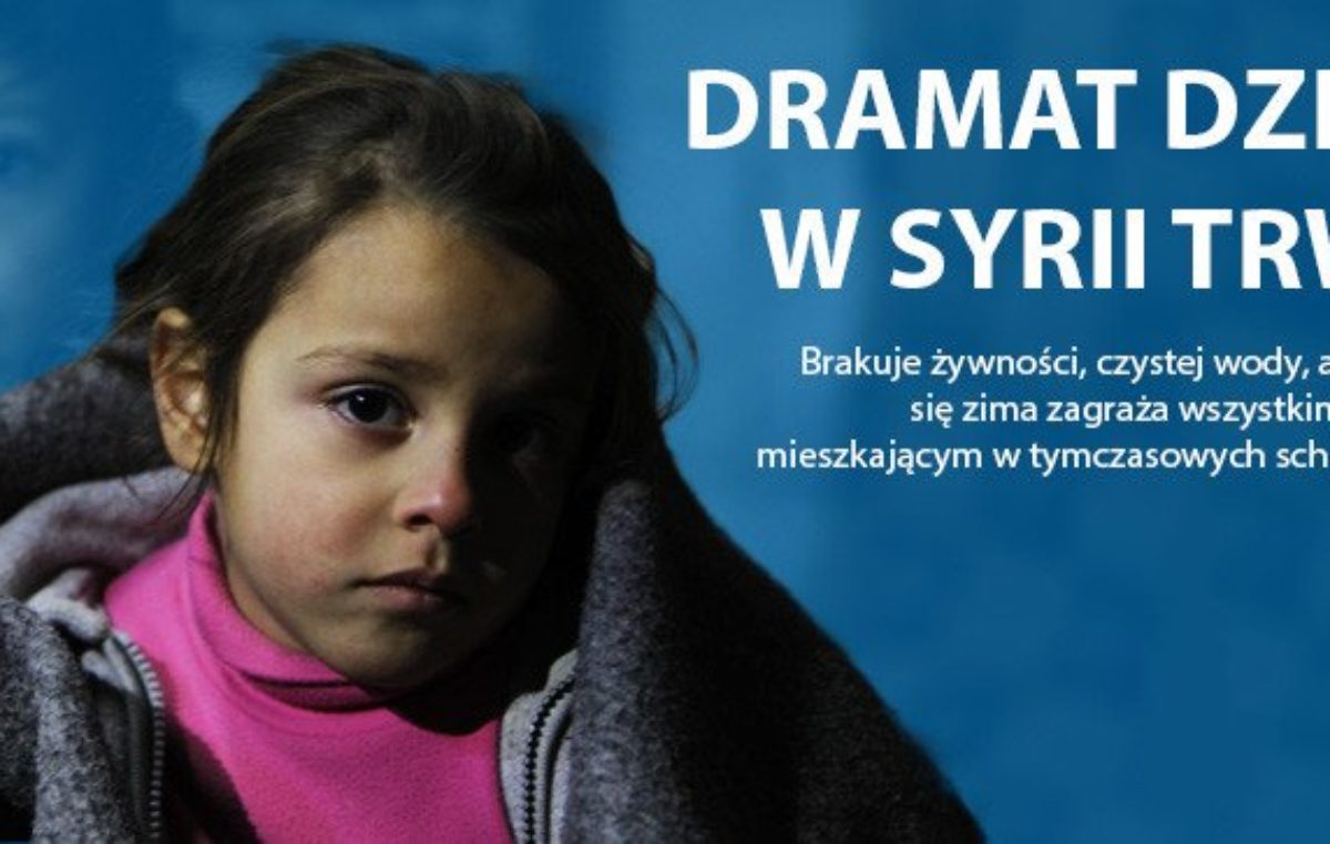 12 grudnia 2016 – Pomoc dla dzieci z Syrii