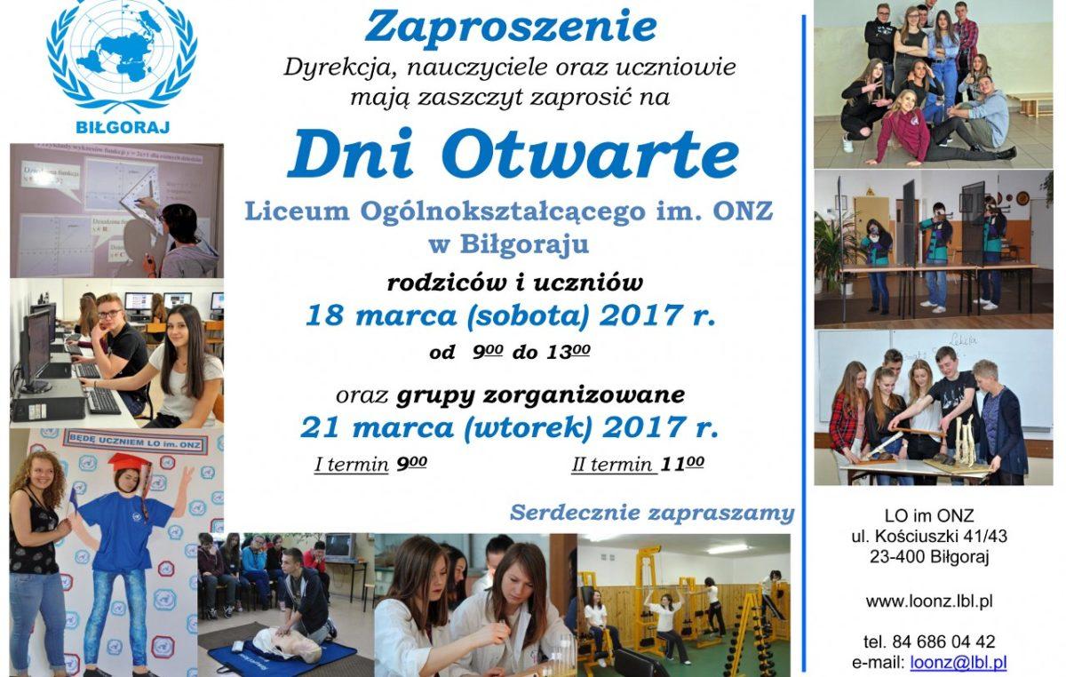 12 marca 2017 – Dni Otwarte