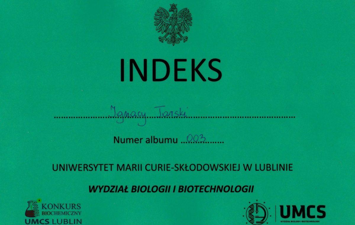 5 kwietnia 2017 – Konkurs Biochemiczny organizowany przez Polskie Towarzystwo Biochemiczne i Zakład Biochemii UMCS w Lublinie