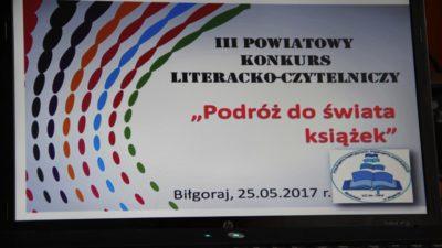 26 maja 2017 – III Powiatowy Konkurs Literacko-Czytelniczy