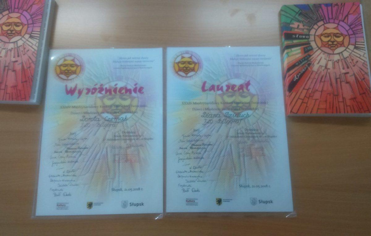 5 czerwca 2018 – Międzynarodowe sukcesy literackie