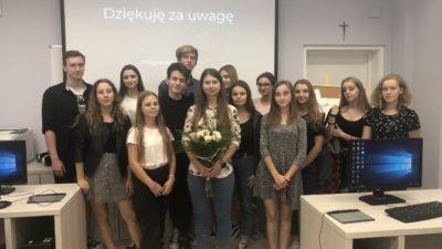 10 października 2018 – Spotkanie z absolwentem