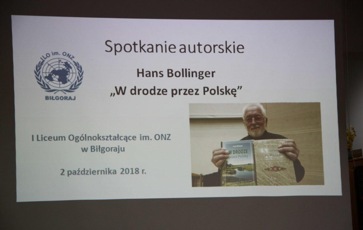 4 października 2018 – Spotkanie autorskie z Hansem Bollingerem