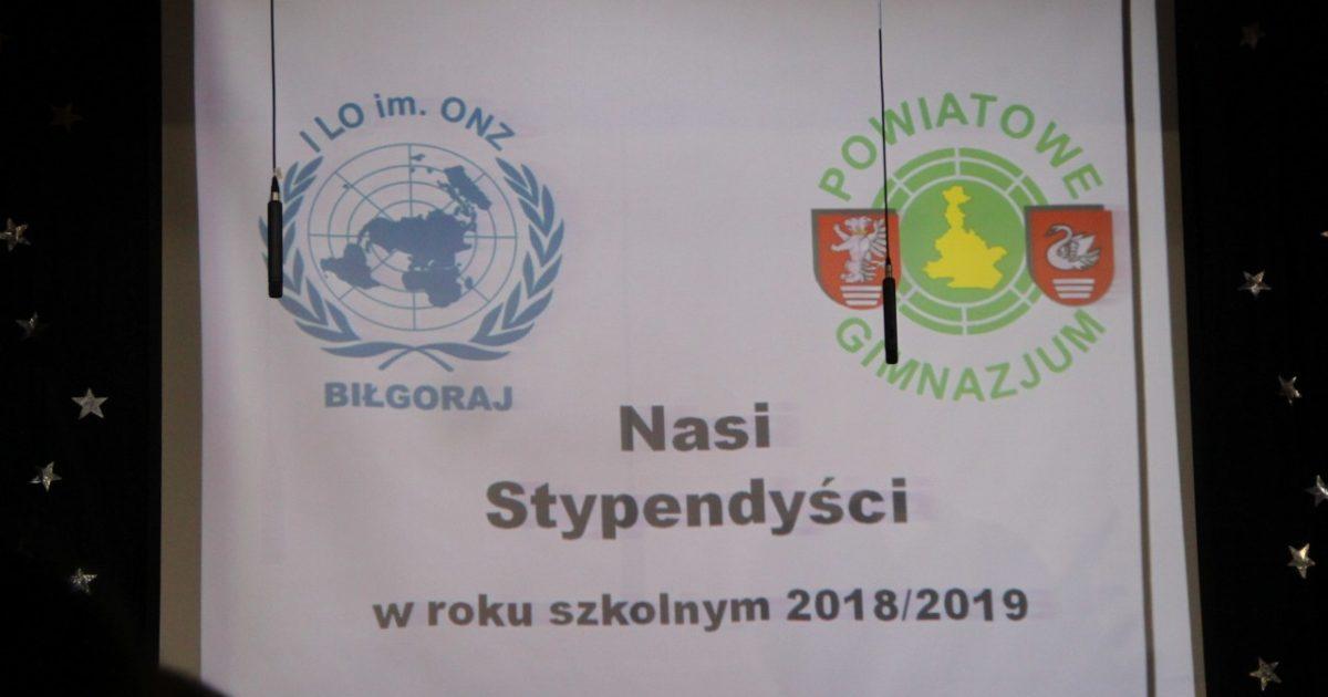 9 stycznia 2019 – Stypendyści Starosty Biłgorajskiego
