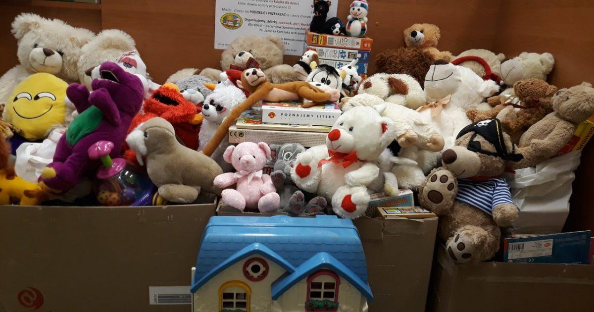 7 lutego 2019 – Zabawki dla chorych dzieci z Sanatorium w Krasnobrodzie