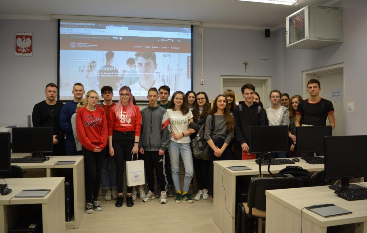 16 lutego 2020 – Spotkanie ze studentką grafiki komputerowej