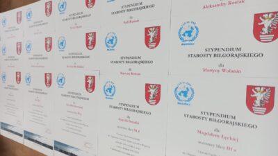 16 grudnia 2020 – Stypendia Starosty Biłgorajskiego