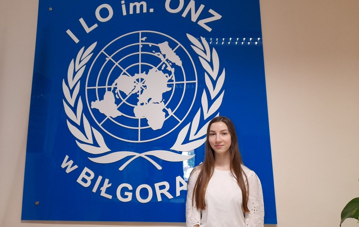 25 maja 2021 – Dominika Kleban w etapie centralnym Olimpiady Wiedzy Ekologicznej