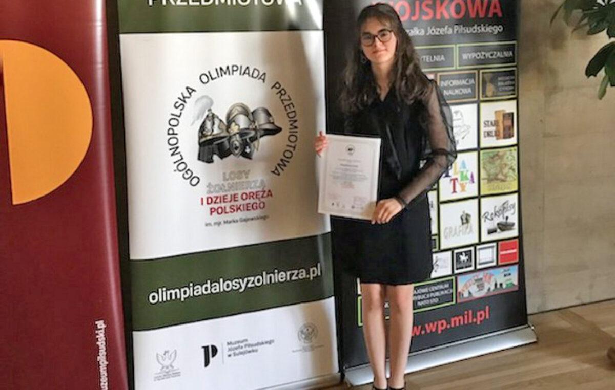 22 czerwca 2021 – Magda finalistką ogólnopolskiej olimpiady